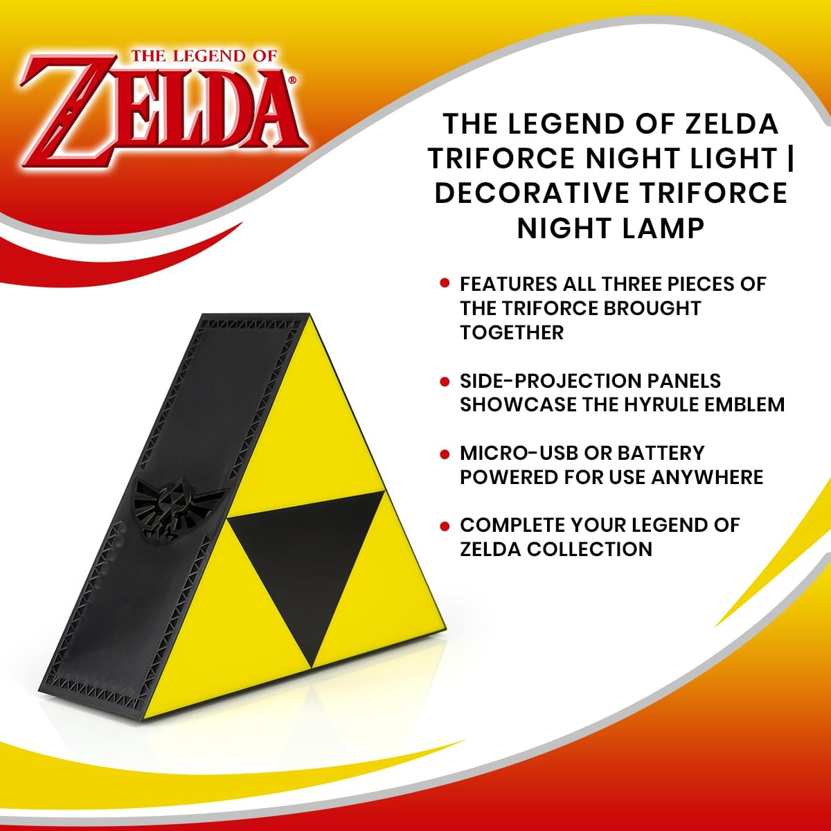 Retro Gaming Ocarina of Time Triforce Zelda Triforce Gift  Breath of the Wild Zelda Tri-Force Neon Light  Gaming Decor