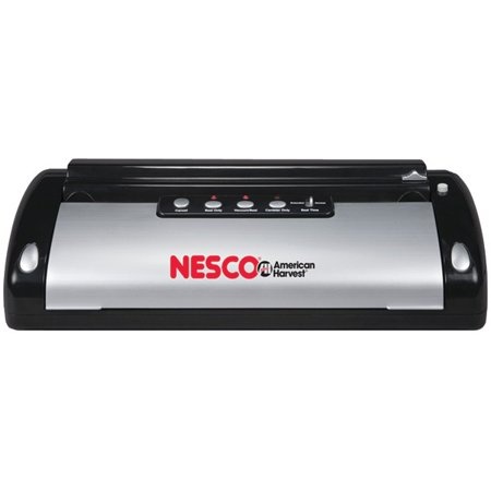 Nesco® Vacuum Sealer (130-watt; Black & Silver) Nesco VS-02 Vacuum Sealer (130-Watt; Black & Silver) ; 130W; Compact Size; Reseals Food In Its Original Package; Reduces Spoilage & Waste; Eliminates Freezer Burn; Seal-only Switch Prevents Over Vacuuming Or Crushing Foods; 1-touch Operation; Airtight Vacuum; Auto Shutoff; Black & Silver; This nesco vacuum sealer (130-watt; black & silver) is a high quality other kitchen appliances item from our housewares & personal care , kitchen appliances & accessories , small appliances & accessories , other kitchen appliances collections .