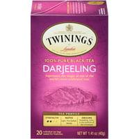 (6 Boxes) Twinings of London Darjeeling Black Tea bags, 20 Ct