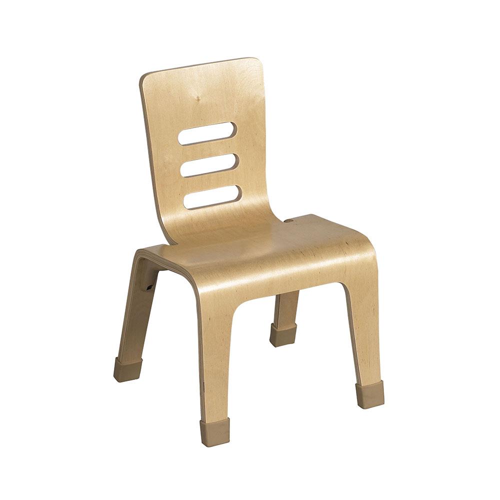"""ECR4Kids Preschool Kids 10"""" Bentwood Chair - Natural, 2 Pack"""