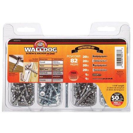Hillman Walldog No. 10 x 1-1/4 in. L Phillips Pan Head Chrome Chrome Construction Screws 82 - Case Of: 1; Each Pack Qty: 82; Total Items Qty: 82