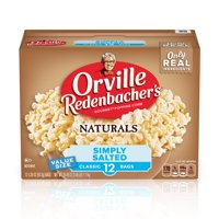 Orville Redenbachers Naturals Simply Salted Microwave Popcorn 3.29 Oz 12 Ct