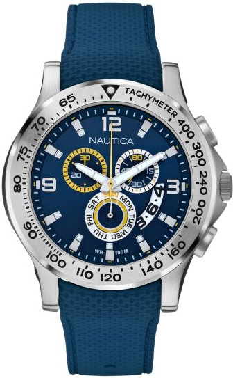 Nautica Men's Nst 600 N19602G Blue Rubber Swiss Quartz Watch by Nautica