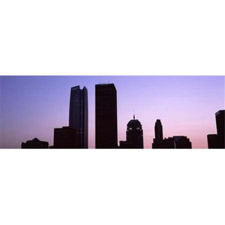 Downtown skyline at night  Oklahoma City  Oklahoma  USA Poster Print by  - 36 x 12 - image 1 de 1