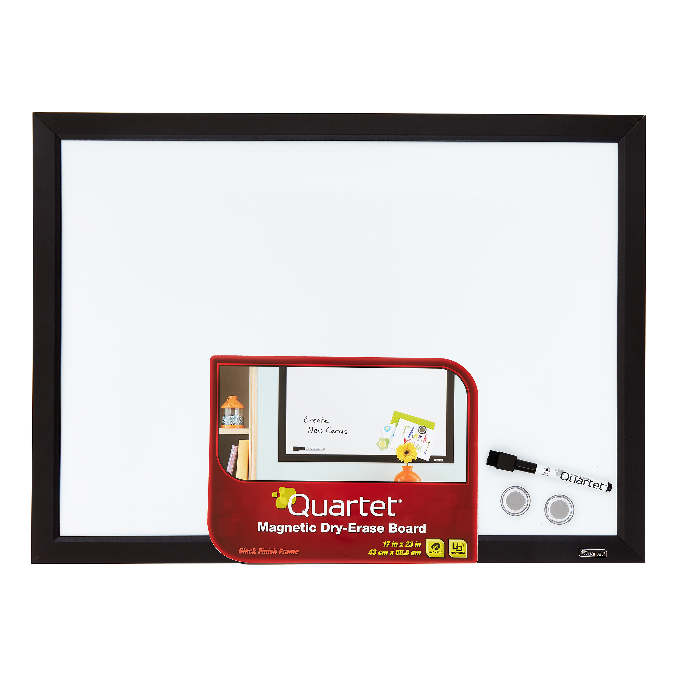 """Quartet Magnetic Dry-Erase Board, 17"""" x 23\ by ACCO BRANDS"""