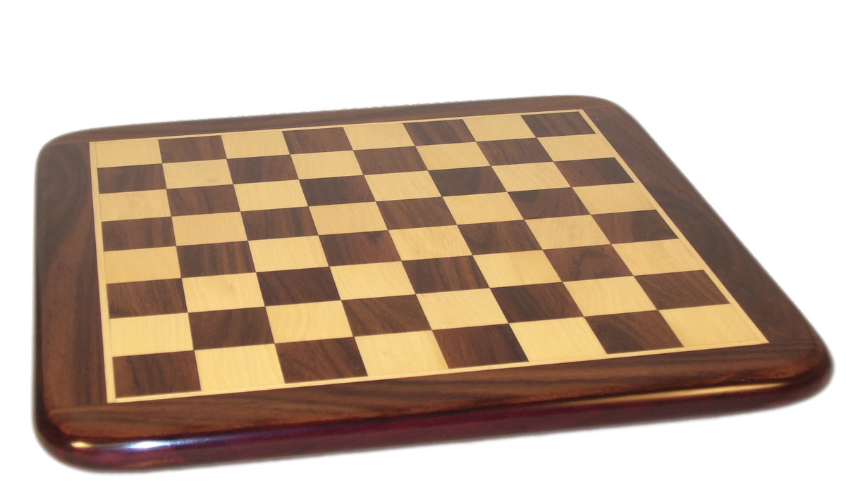 "21"" Rosewood & Maple Thick Chess Board by WorldWise Imports"