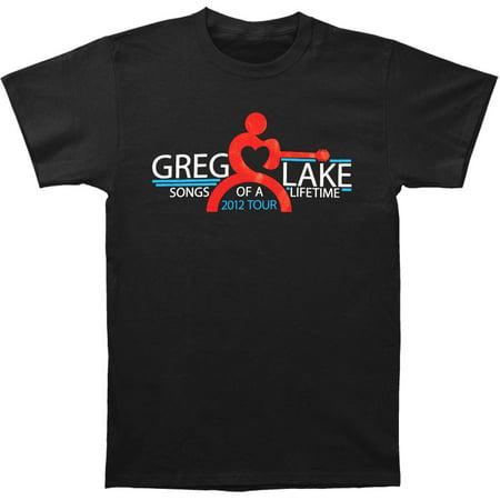 Emerson Lake & Palmer Men's  Greg Lake Songs Of A Lifetime T-shirt Black (Emerson Shirt Black)