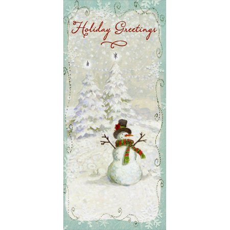 Designer Greetings Holiday Greetings Snowman 8 Christmas Gift Card / Money Holders ()