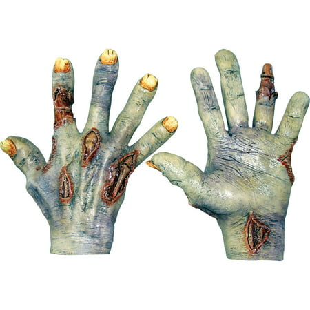 Undead Zombie Latex Hands Adult Halloween Accessory - Zombie Hand