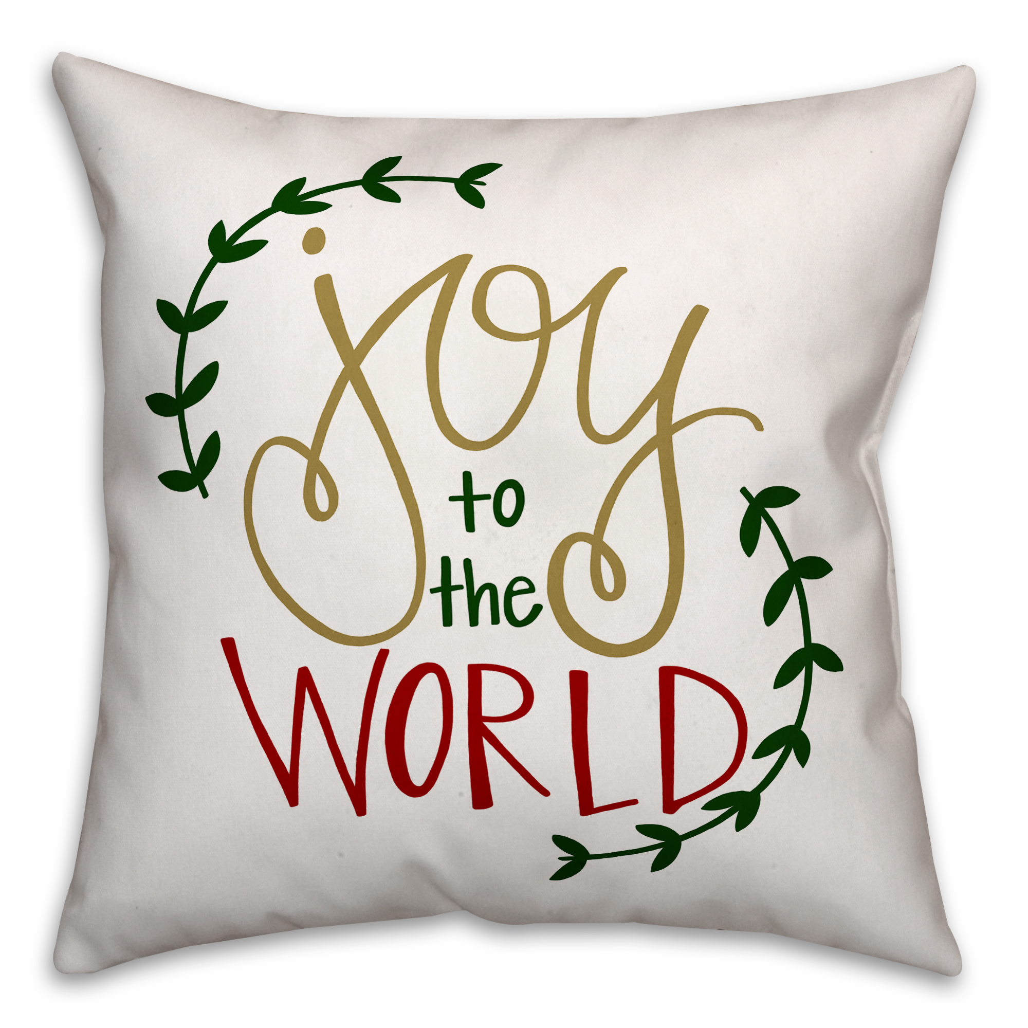 Joy to the World 18x18 Spun Poly Pillow