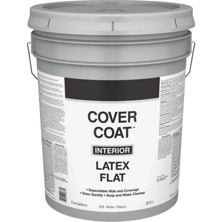 Valspar Int Flat White Paint 044 0000255 008 Unit Pail