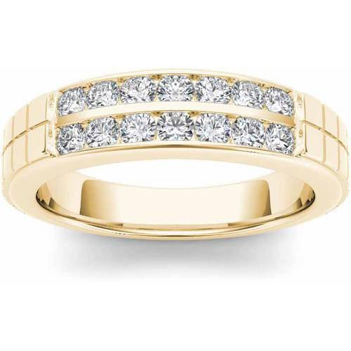 Imperial 3/4 Carat T.W. Diamond Men's 14kt Yellow Gold Wedding Band