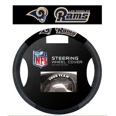 - Poly-Suede Steering Wheel Cover Los Angeles Rams - 98541
