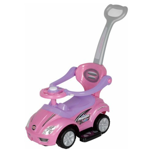 Best Ride On Cars 3 in 1 Riding Push Toy - Pink