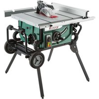 """Grizzly Industrial G0870 10"""" 2 HP Portable Table Saw with Roller Stand"""