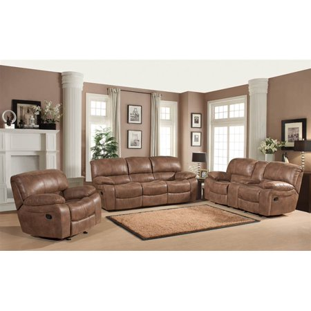 3 pc reclining living room set in camel finish for 3 pc living room set
