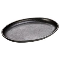 Cast Iron 10 x 7.5 Inch Handleless Oval Serving Griddle, Cast iron By Lodge