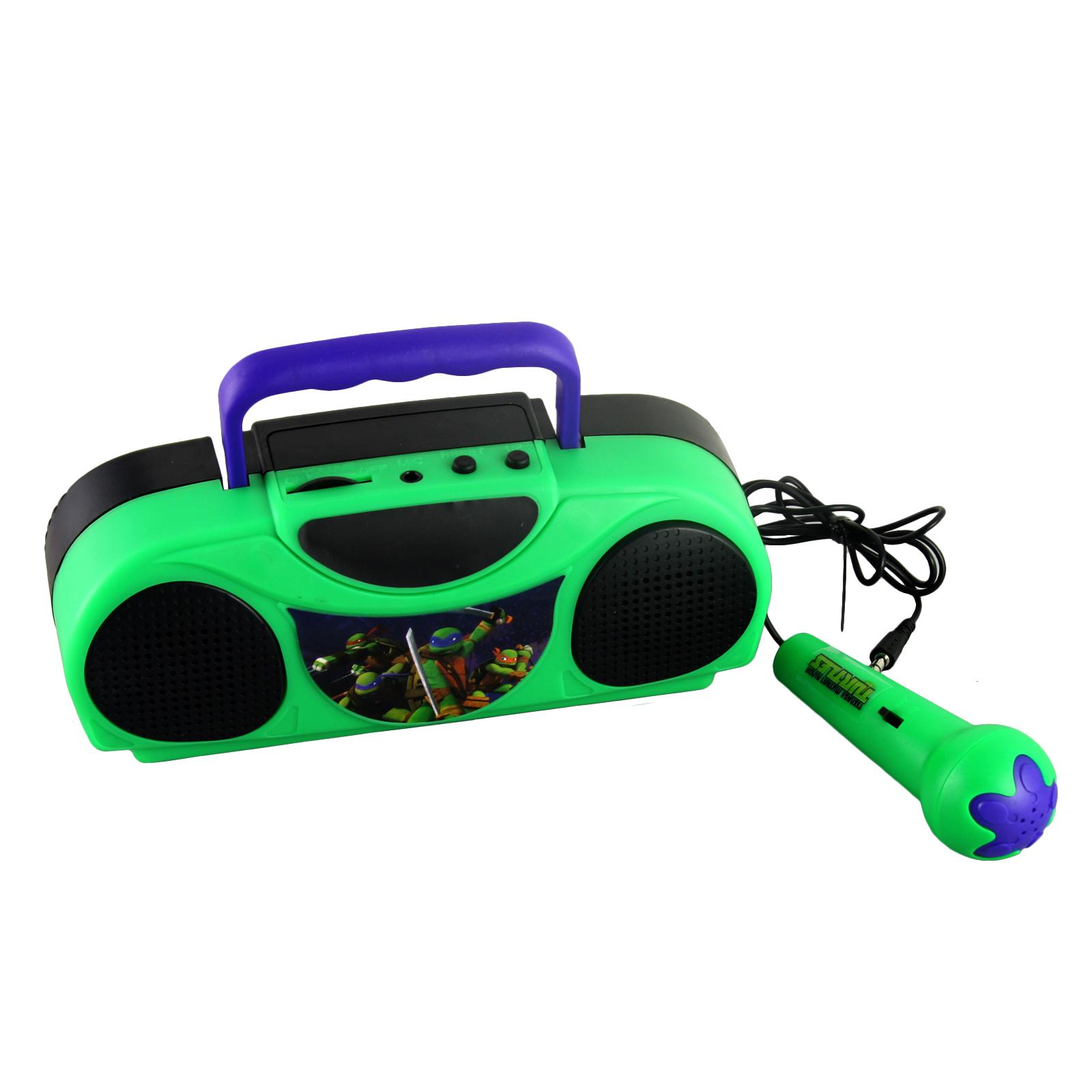 Nickelodeon 16365 Teenage Mutant Ninja Turtles Portable Radio Karaoke Kit