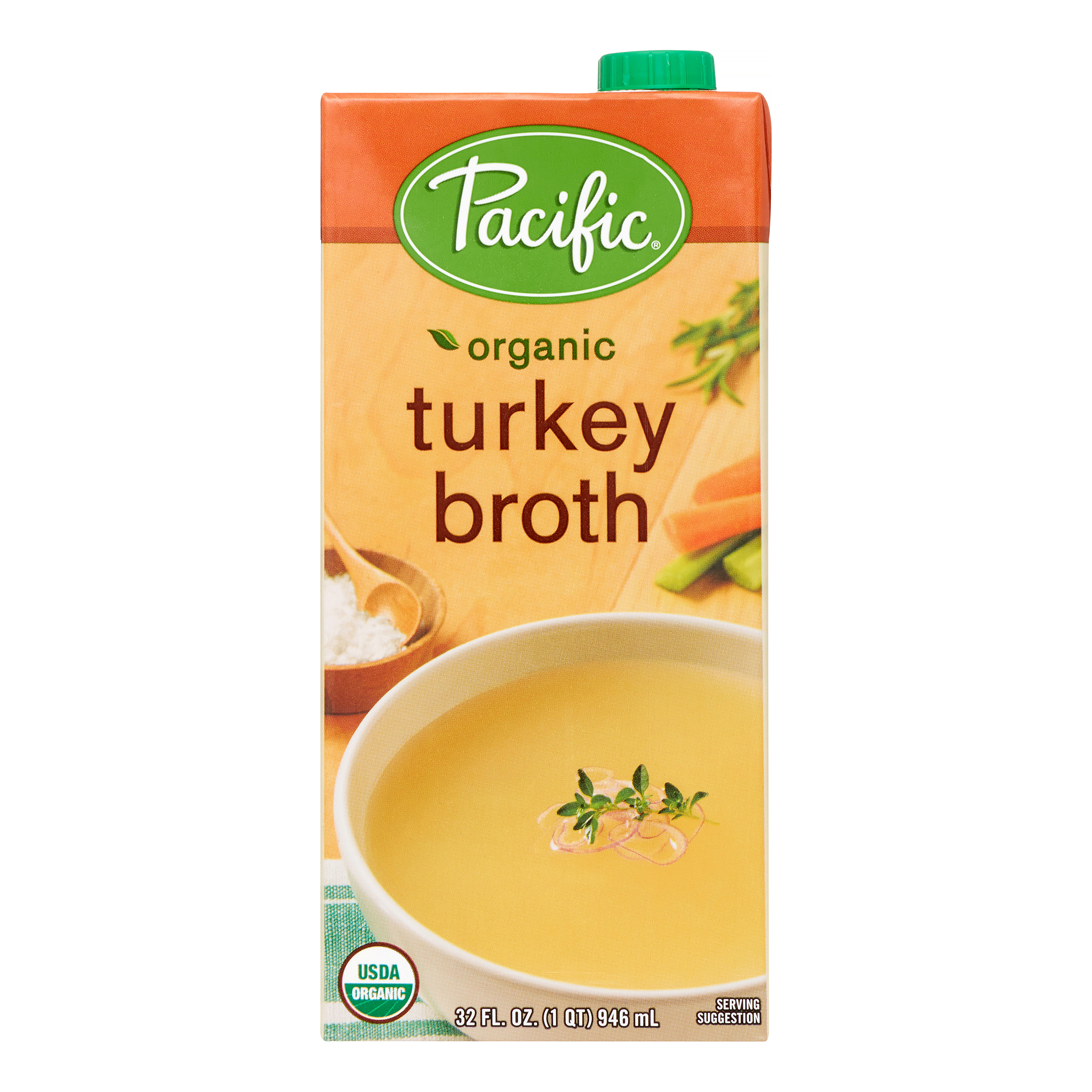 Pacific Foods Organic Turkey Broth, 32-Ounces