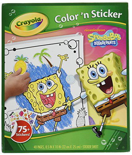 crayola spongebob squarepants color sticker activity book