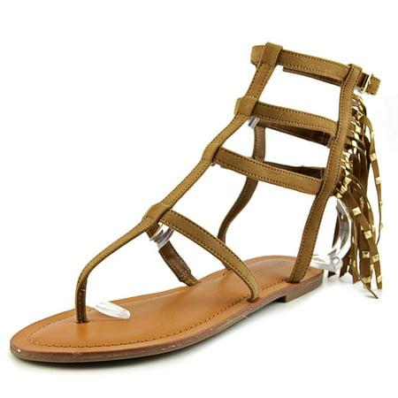 Indigo Rd  Beth Women  Open Toe Canvas Tan Gladiator Sandal