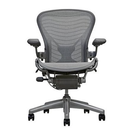- Herman Miller Aeron Chair Size B Fully Featured Gray Wave W/Posuturefit, Executive Office Chair