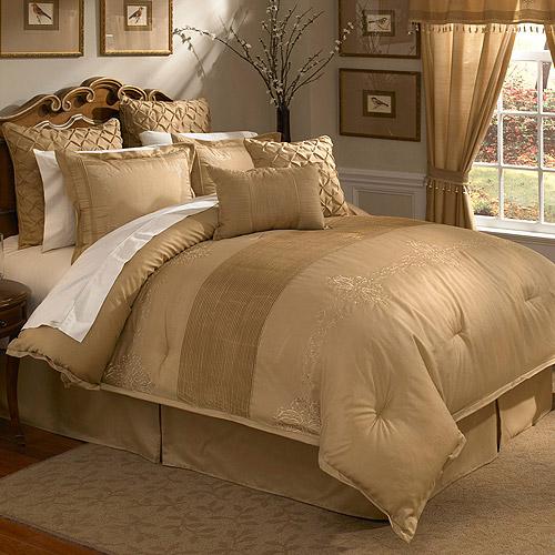 Veratex Lantana 4-Piece Bedding Comforter Set, Gold