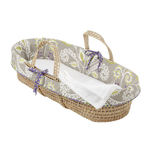 Cotton Tale Periwinkle Girl Moses Basket