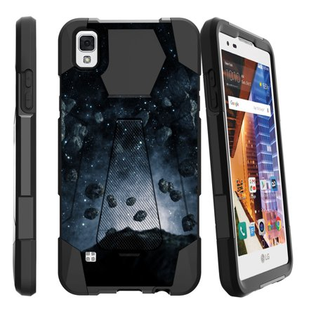 LG Volt 3, LG Tribute HD, LG X Style Shock Fusion Heavy Duty Dual Layer Kickstand Case -  Spotted (Fashion Fair Phone Number)