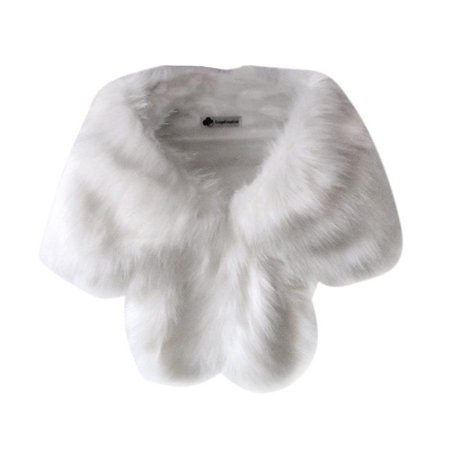 EFINNY Women Faux Fur Shawl Stole Wrap Shrug Scarf