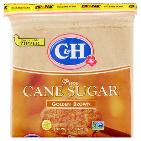 (4 Pack) C&H: Pure Cane Golden Brown Sugar, 32 Oz Substitutes Brown Sugar