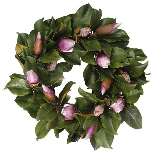 Jane Seymour Magnolia Bud 24 in. Wreath