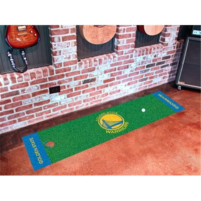 FANMATS 9269 Golden State Warriors Putting Green Runner 24 inch x 96 inch