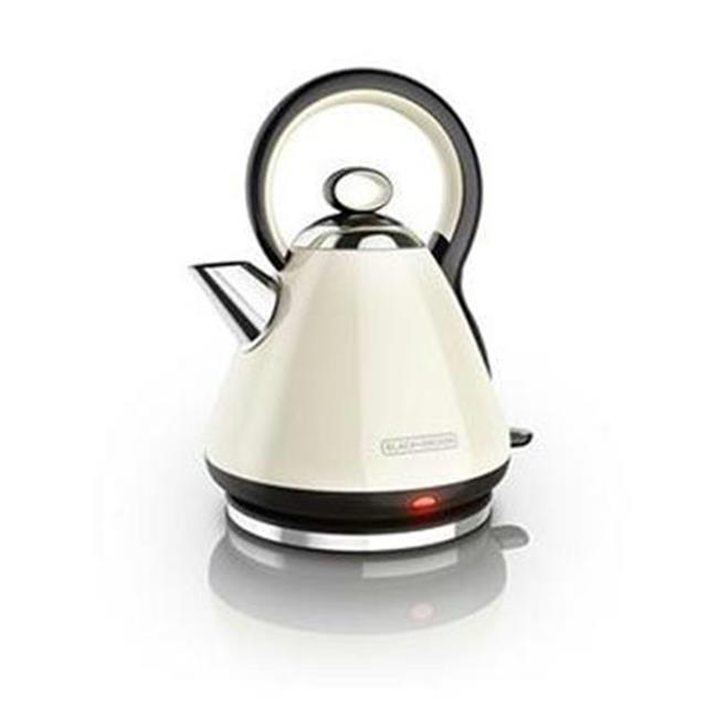 Black Decker Electric Kettle, Cream - Stainless Steel