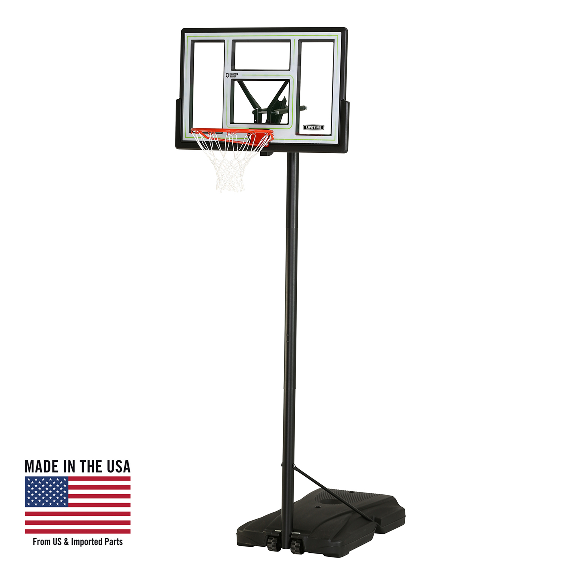 Lifetime Adjustable Portable Basketball Hoop (46-Inch Polycarbonate), 90584