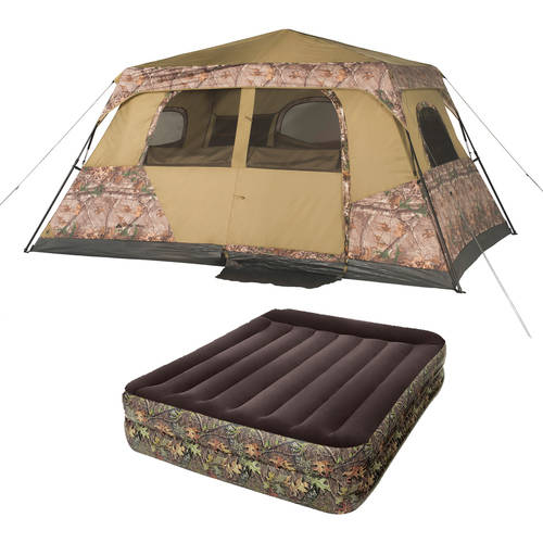 Ozark Trail 8 Person Instant Cabin Tent with Queen Airbed Value Bundle
