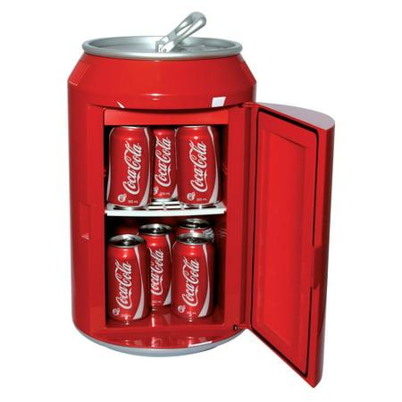 Coca Cola Can Fridge Finish Red