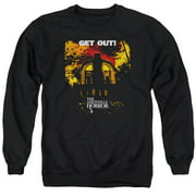 Amityville Horror Get Out Mens Crewneck Sweatshirt