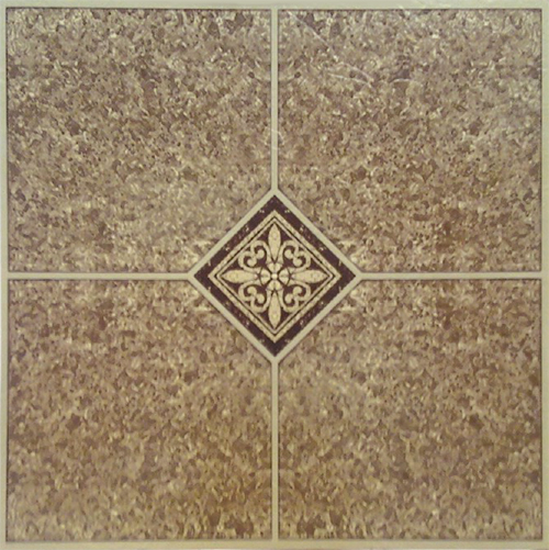 """Home Dynamix Dynamix Vinyl Tile Area Rugs - 1005  Brown Stone Accent Rug - 12"""" x 12"""""""