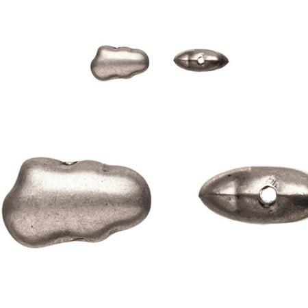 Pewter Beads, Burnished Silver Plated, Fancy Shape With Smooth Surfers, 7x12mm Oval Plate Sold per pkg of 10pcs per pack - Surfer Supplies