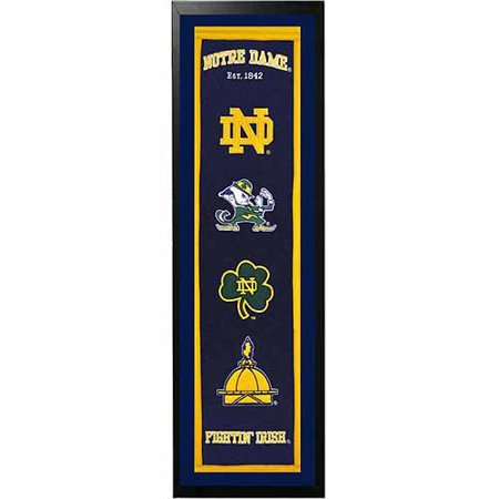 "NCAA 14"" x 37"" Banner Frame, Notre Dame"