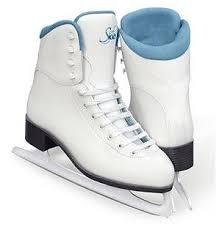 Jackson Ultima Skates (New Jackson Ultima Soft Skate White Youth Size 10J Tots Ice Skates Figure Blue )
