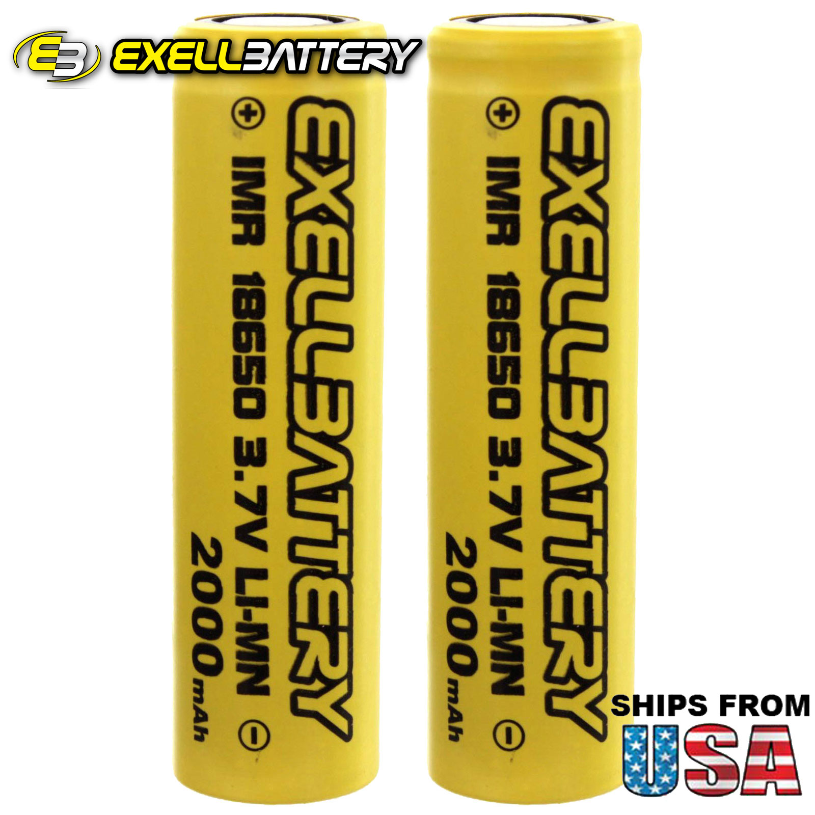 2x IMR 18650 3.7V Li-Ion 2000mAh Rechargeable Batteries Mod Vape