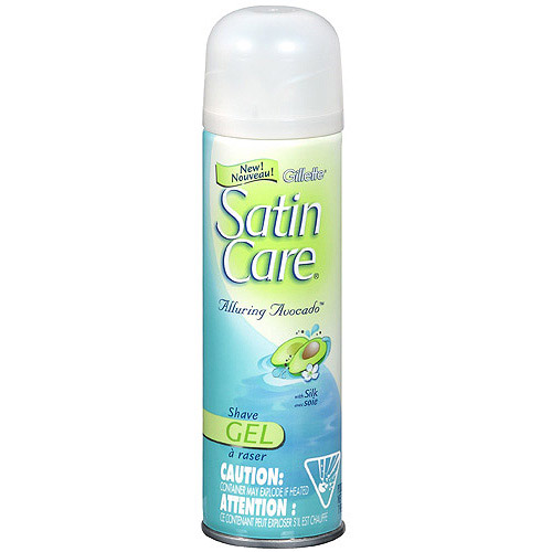 Gillette Satin Care Alluring Avocado Shave Gel, 7 oz