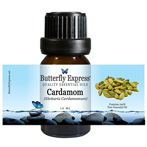 Cardamom Essential Oil 10ml - 100% Pure by Butterfly Express