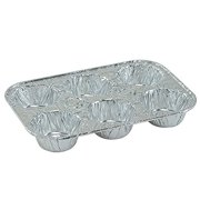 4 Pack Disposable Recyclable Aluminum Foil 6 Muffin Pan, Includes (4) Disposable Durable Foil Muffin Pan By Regent
