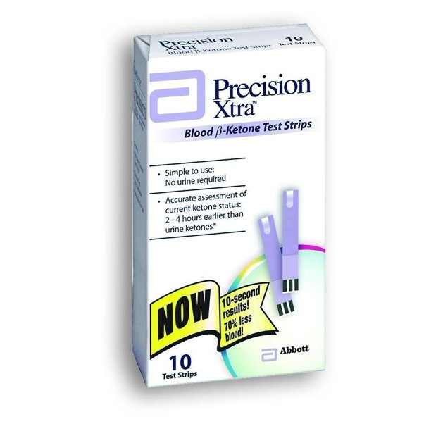 Precision Xtra Blood B-Ketone Test Strips, 10 Ct