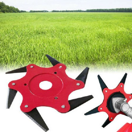 Outdoor Trimmer Head 6 Steel Blades Razors 65Mn Lawn Mower Grass Weed Eater Brush Cutter