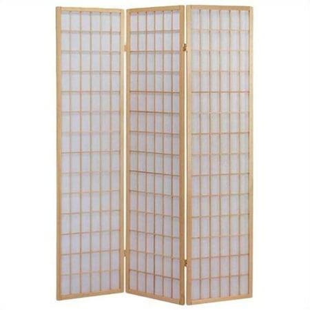 ACME Furniture Naomi 3 Panel Wooden Screen in Natural
