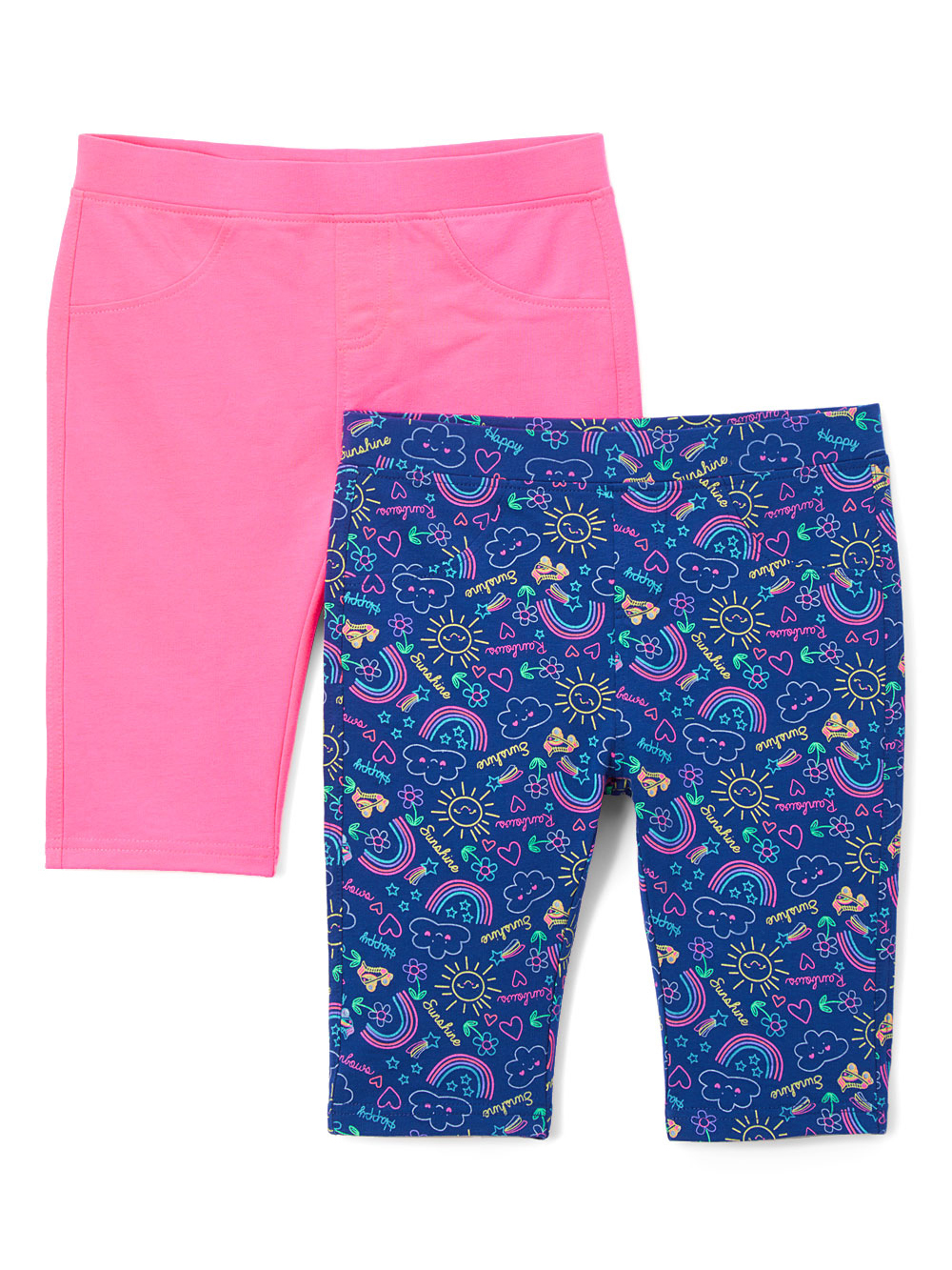 Solid and Printed Bermuda Shorts, 2-pack (Toddler Girls)